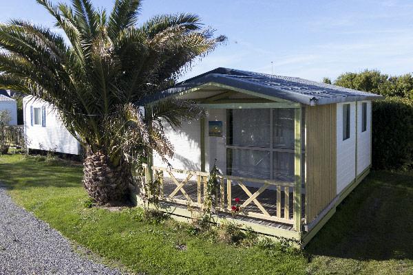 camping location chalet 5 personnes trevou treguignec exterieur